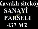 KAVAKLI SANAYİ SİTESİNDE 435 M2 İMARLI TEK TAPU 175.000 TL